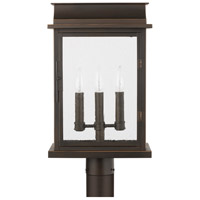 Capital Lighting 936832OZ Bolton 3 Light 20 inch Oiled Bronze Outdoor Post Lantern