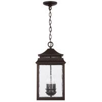 Capital Lighting 936933OZ Sutter Creek 3 Light 10 inch Oiled Bronze Outdoor Hanging Lantern