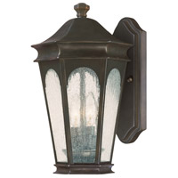 Capital Lighting Inman Park 2 Light Outdoor Wall Lantern in Old Bronze with Seeded Glass 9380OB