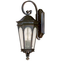 Capital Lighting Inman Park 2 Light Outdoor Wall Lantern in Old Bronze with Seeded Glass 9381OB