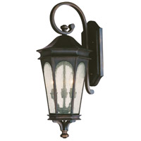 Capital Lighting Inman Park 3 Light Outdoor Wall Lantern in Old Bronze with Seeded Glass 9382OB