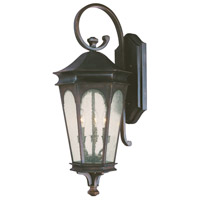 Capital Lighting Inman Park 3 Light Outdoor Wall Lantern in Old Bronze with Seeded Glass 9383OB