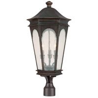 Capital Lighting Inman Park 3 Light Post Lantern in Old Bronze with Seeded Glass 9387OB
