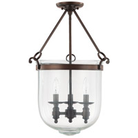 Covington 3 Light 16 inch Burnished Bronze Foyer Ceiling Light