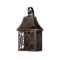 Capital Lighting Bromley 1 Light Outdoor Wall Lantern in New Bronze 9433NB photo thumbnail