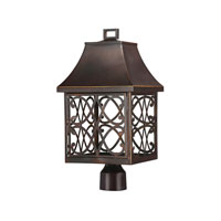 Capital Lighting Bromley 1 Light Outdoor Post Lantern in New Bronze 9435NB