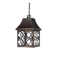 Capital Lighting Bromley 1 Light Outdoor Hanging Lantern in New Bronze 9436NB