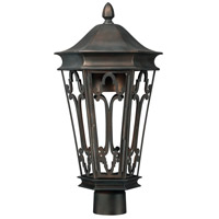 Capital Lighting Townsende 1 Light Outdoor Post Lantern in Old Bronze 9445OB