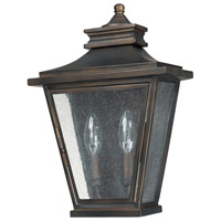 Capital Lighting Astor 2 Light Outdoor Wall Lantern in Old Bronze with Antique Glass 9460OB