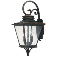 Capital Lighting Gentry 2 Light Outdoor Wall Lantern in Old Bronze with Antique Glass 9462OB