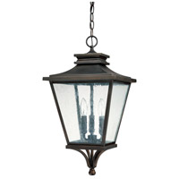 Capital Lighting Gentry 3 Light Outdoor Hanging Lantern in Old Bronze with Antique Glass 9465OB