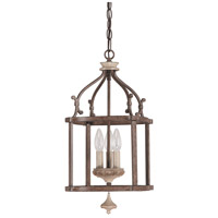 Chateau 3 Light 10 inch French Oak Foyer Pendant Ceiling Light