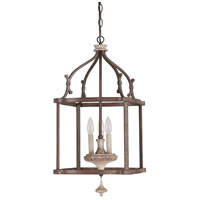 Chateau 3 Light 14 inch French Oak Foyer Pendant Ceiling Light