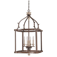 Capital Lighting Chateau 4 Light Foyer Pendant in French Oak 9473FO
