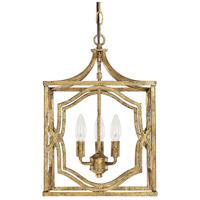 Capital Lighting Blakely 3 Light Foyer Pendant in Antique Gold 9481AG