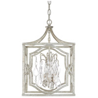 Blakely 3 Light 12 inch Antique Silver Foyer Ceiling Light in Clear