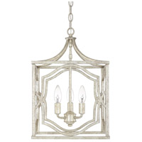 Blakely 3 Light 12 inch Antique Silver Foyer Ceiling Light in (None)