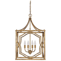 Capital Lighting Blakely 4 Light Foyer Pendant in Antique Gold 9482AG
