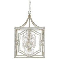 Capital Lighting Blakely 4 Light Foyer in Antique Silver with Clear Crystals 9482AS-CR