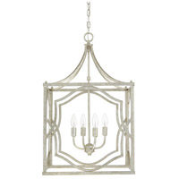 Capital Lighting Blakely 4 Light Foyer in Antique Silver 9482AS