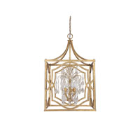 Capital Lighting Blakely 6 Light Foyer Pendant in Antique Gold with Crystals 9483AG-CR