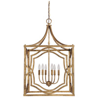 Capital Lighting Blakely 6 Light Foyer Pendant in Antique Gold 9483AG