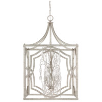 Capital Lighting Blakely 6 Light Foyer in Antique Silver with Clear Crystals 9483AS-CR