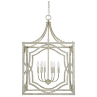 Capital Lighting Blakely 6 Light Foyer in Antique Silver 9483AS