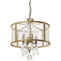 Capital Lighting Blakely 4 Light Pendant in Antique Gold with Crystals 9484AG-CR