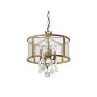 Capital Lighting Blakely 4 Light Pendant in Antique Gold with Painted Crystals 9484AG-PC