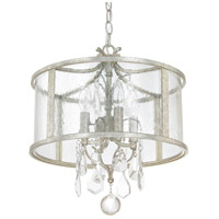 Capital Lighting 9484AS-CR Blakely 4 Light 15 inch Antique Silver Pendant Ceiling Light in Clear