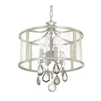 Capital Lighting Blakely 4 Light Pendant in Antique Silver with Antique Glass with Clear and Antique Crystals 9484AS-PC