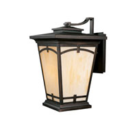 Capital Lighting Dakota 1 Light Outdoor Wall Lantern in Burnished Bronze with Honey Art Glass 9523BB