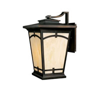 Capital Lighting Dakota 1 Light Outdoor Wall Lantern in Burnished Bronze with Honey Art Glass 9524BB