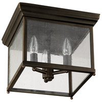 Signature 3 Light 12 inch Old Bronze Outdoor Ceiling