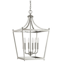 Stanton 6 Light 17 inch Polished Nickel Foyer Pendant Ceiling Light