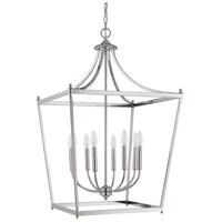 Capital Lighting 9553PN Stanton 8 Light 22 inch Polished Nickel Foyer Pendant Ceiling Light