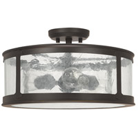 Capital Lighting Dylan 3 Light Outdoor Semi-Flush in Old Bronze 9567OB