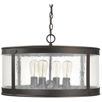 Capital Lighting Claybourne 4 Light Outdoor Pendant in Old Bronze 9568OB