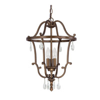 Signature 3 Light 14 inch Suede Foyer Pendant Ceiling Light