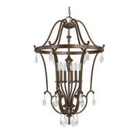 Signature 6 Light 25 inch Suede Foyer Pendant Ceiling Light
