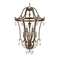 Signature 8 Light 30 inch Suede Foyer Pendant Ceiling Light