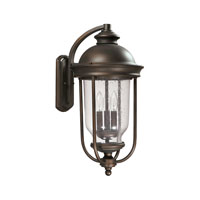 Capital Lighting York 3 Light Outdoor Wall Lantern in Old Bronze 9583OB