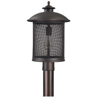 Capital Lighting Dylan 1 Light Outdoor Post Lantern in Old Bronze 9615OB