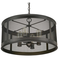 Capital Lighting Spencer 4 Light Outdoor Pendant in Old Bronze 9618OB