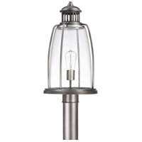Harbour 1 Light 20 inch Graphite Outdoor Post Head Lantern