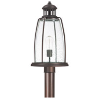 Harbour 1 Light 20 inch Old Bronze Outdoor Post Head Lantern