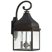 Capital Lighting Westridge 3 Light Outdoor Wall Lantern in Old Bronze 9642OB