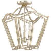 Capital Lighting Signature 3 Light Foyer Pendant in Winter Gold 9651WG