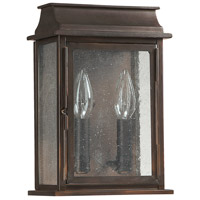 Capital Lighting Bolton 2 Light Outdoor Wall Lantern in Old Bronze 9661OB